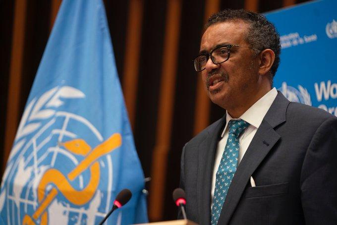 Director general de la organización mundial de la salud, Tedros Adhanom Ghebreyesus.